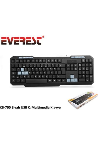 Everest KB-700 Siyah Kablolu Multimedia Klavye