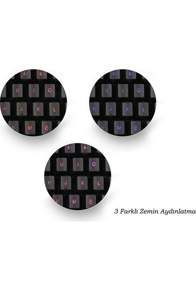 Rampage KM-R77 Siyah 3 Farklı Ledli Oyuncu Klavye + Mouse Set
