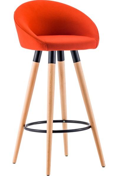 Sandalye Online Flora Ahşap Bar Sandalyesi