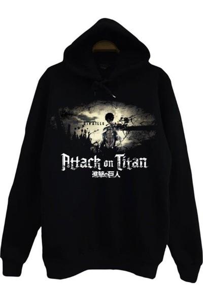 Stoned Attack On Titan Kapüşonlu Çocuk Sweatshirt-Swp
