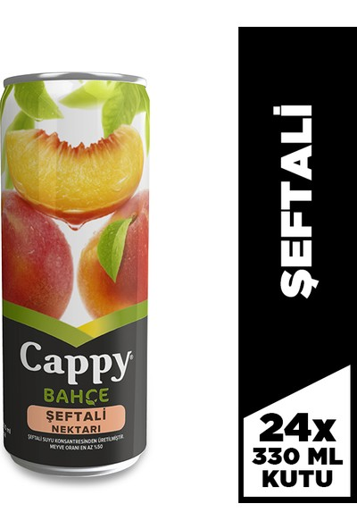 Cappy Şeftali 330 Ml, 24'lü Paket
