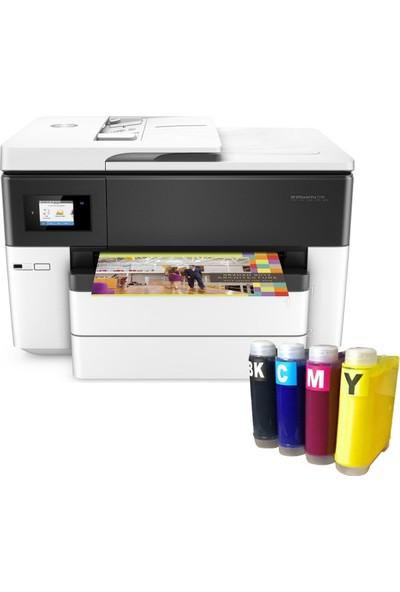 Hp Officejet Pro 7740 Fotokopi + Faks + Tarayıcı + Wi-Fi + Airprint + A3 Yazıcı G5J38A + Bitmeyen Kartuş Sistemi