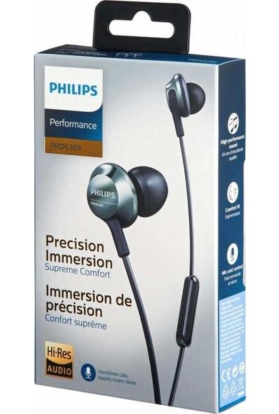 Philips PRO6305BK Kablolu Kulak İçi Mikrofonlu Kulaklık – Siyah