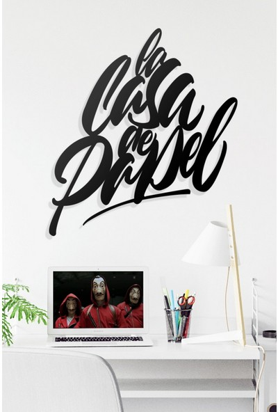 Dekkor Art Dekkorart La Casa De Papel Metal Duvar Tablosu 55 x 60 cm
