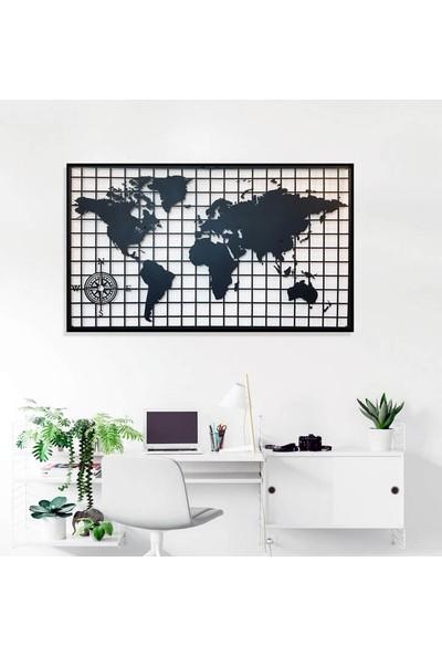 Dekkor Art Dekkorart Kareli Metal Dünya Haritası