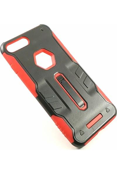 Arma Apple iPhone 8 Plus Kılıf - Siyah Kırmızı