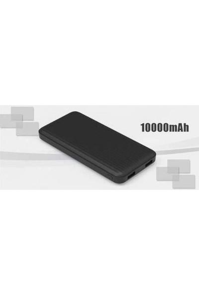 Paleon 10000 Mah Slim Powerbank 4 Kademe Gösterge 2 Girişli Siyah