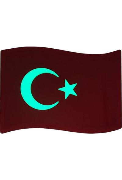 Faami Style Fosforlu Türk Bayrağı