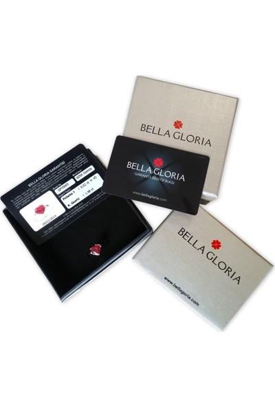 Bella Gloria Firuze Taşlı Su Yolu Roz Gümüş Kolye (TGK0406)