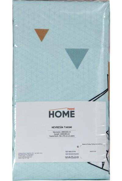 Hepsi Home by Zorluteks Çift Kişilik Nevresim takımı - Geomertik Gri