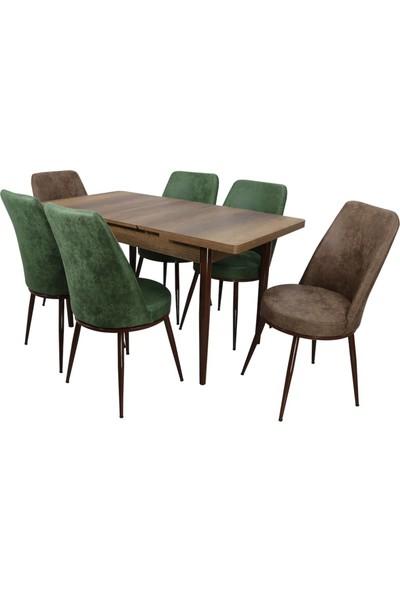 Stoker Hera Yemek Takımı 6 Sandalyeli Açılır Masalı
