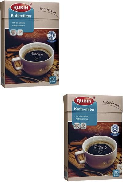 Rubin Büyük Boy 4 Numara Kahve Filtresi Naturel Kağıt 200 Adet