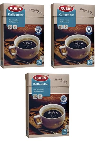 Rubin Büyük Boy 4 Numara Kahve Filtresi Naturel Kağıt 300 Adet