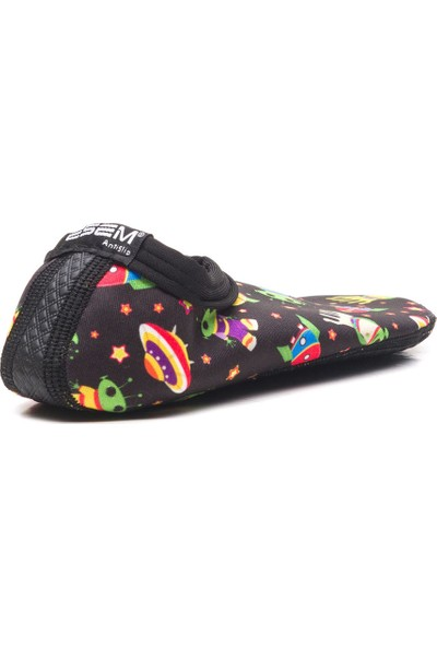 Esem Savana 2 Deniz Ayakkabısı Çocuk Ayakkabı Siyah Uzaylı
