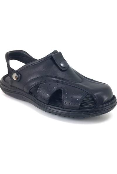 Faruk Karar 2007 Günlük Ortopedik Erkek Sandalet Siyah