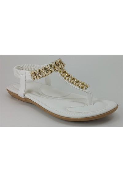 Guja 204-23 Günlük Kadın Sandalet Beyaz