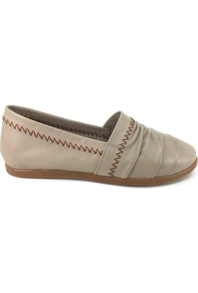 Estile 501 Günlük Kadın Ayakkabı Vizon