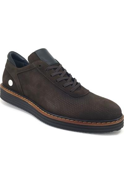 Mammamia 7275 Günlük Erkek Ayakkabı Kahverengi Nubuk