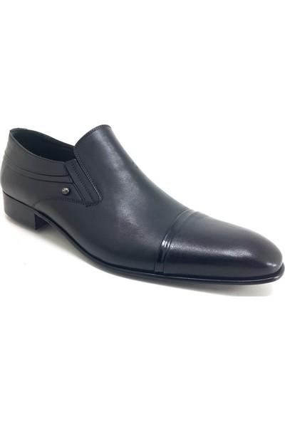 Oskar 23 Büyük Numara Kösele Erkek Ayakkabı Siyah