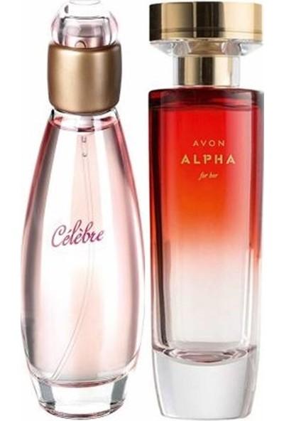 Avon Alpha 50 ml Kadın Edp+Avon Celebre 50 ml Kadın Edt