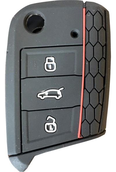 Vw Golf 7 Leon Silikon Araba Araç Oto Anahtar Kumanda Kılıfı Kabı
