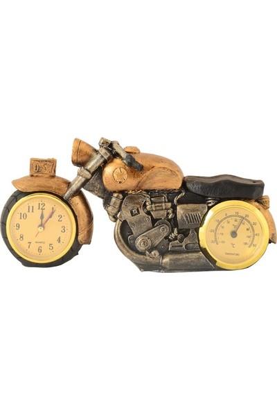 Pologift Polyester Dekoratif Sarı Motor Masaüstü Saat