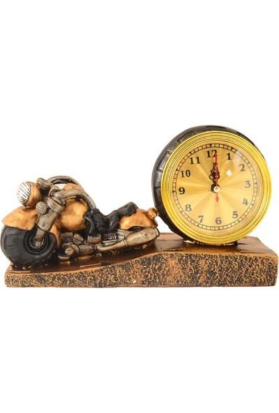 Pologift Polyester Masaüstü Sarı Motor 1 Şeklinde Saat