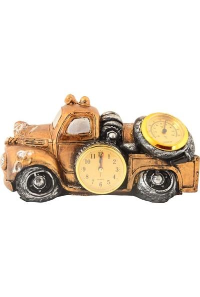 Pologift Polyester Masaüstü Traktör Şeklinde Saat