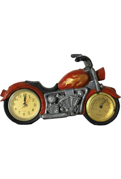 Pologift Polyester Dekoratif Kırmızı Motor Şeklinde Masaüstü Saat