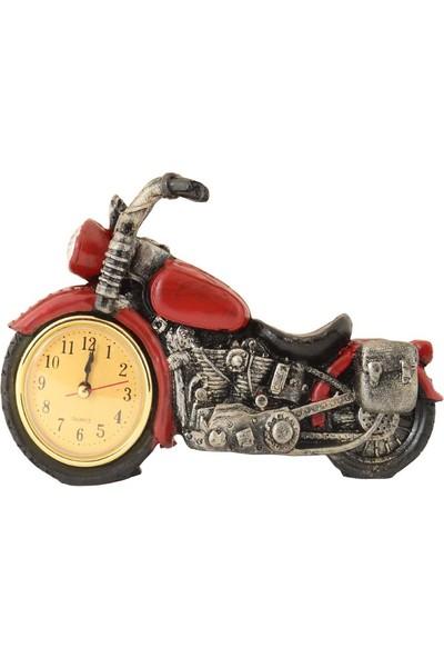 Pologift Polyester Dekoratif Kırmızı Motor Masaüstü Saat