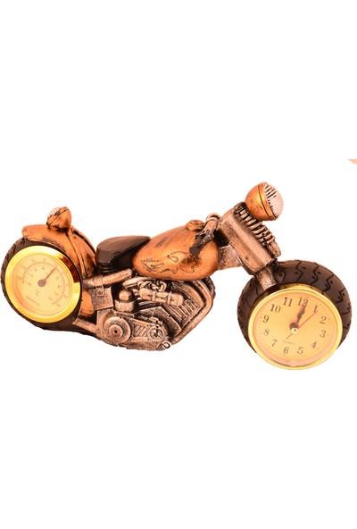 Pologift Polyester Dekoratif Sarı 3 Motor Masaüstü Saat