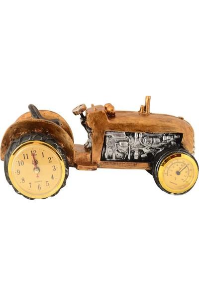 Pologift Polyester Masaüstü Termometreli Traktör Şeklinde Saat