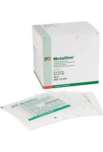Metalline Trakeostomi Pedi 8 x 9 cm Steril Paketlerde - 50 Adet