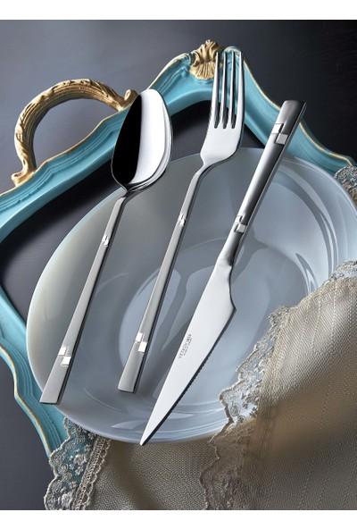 Yetkin Diva 90 Parça Sandık Set Çatal Bıçak Kaşık Takımı