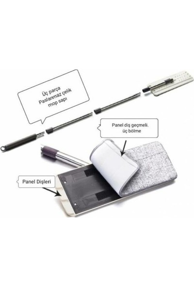 Gültekin Tablet Mop Uyumlu Yedek(Palet+Sopa+Bez)