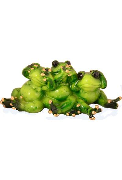 Pologift Polyester Üçlü Görmedim Duymadım Bilmiyorum Kurbağa