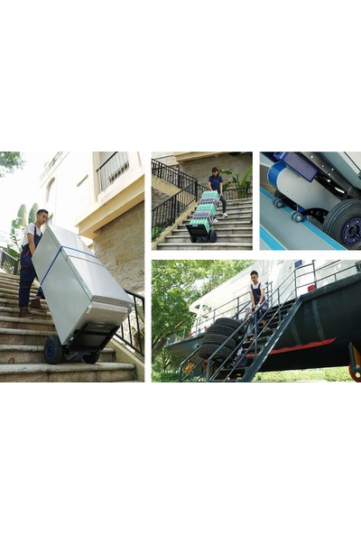 İdeal ekipman Merdiven Çıkabilen Akülü Yük Taşıma Arabası