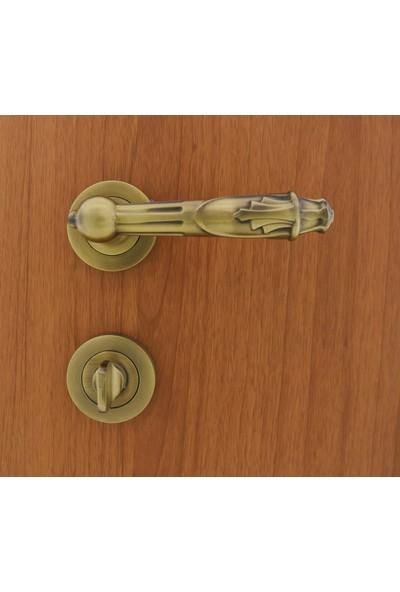 Nobel Pars Antik Sarı Rozetli Kapı Kolu Wc