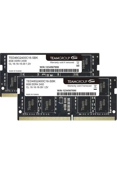Team Elite 8GB 2400MHz DDR4 RAM SO-DIMM TED48G2400C16-S01