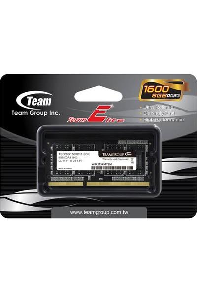 Team Elite 4GB 1600MHz DDR3 RAM SO-DIMM TED34G1600C11-S01