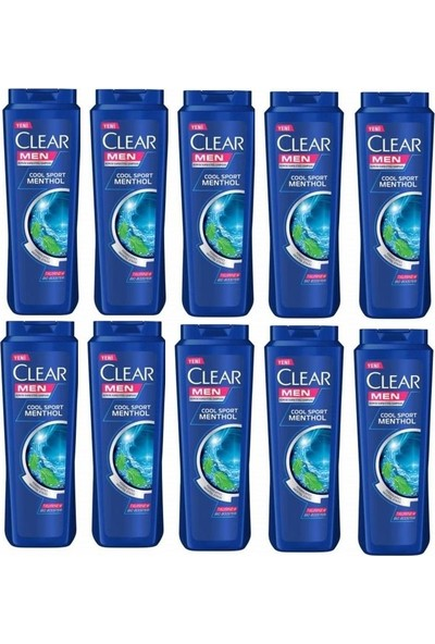 Clear Men Cool Sport Menthol Şampuan 180 ml 10 Adet