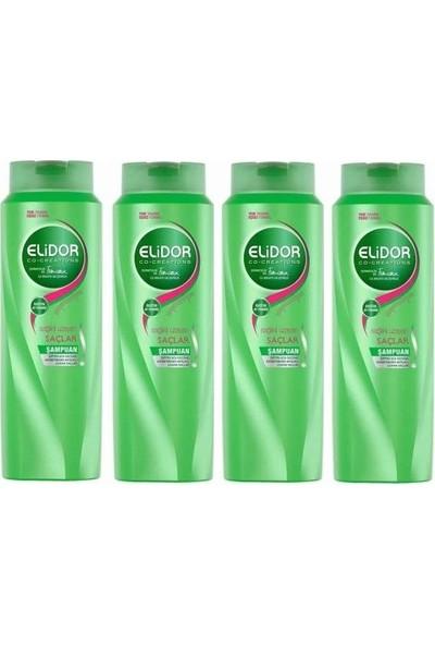 Elidor Sağlıklı Uzayan Saçlar Saç Bakım Şampuanı 500ML 4 Adet
