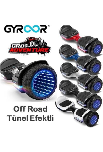 Gyroor Swift Elektrikli Kaykay Off Road Hoverboard 6.5 İnch Ledli Teker Otomatik Dengeli Mavi