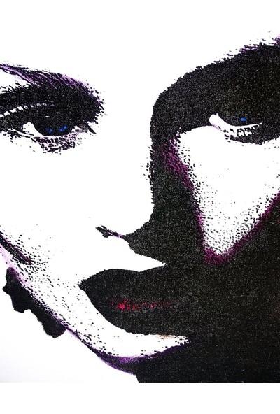 Duvar Tasarım DC 2007 Black&White Led Kanvas Tablo - 70x50 cm