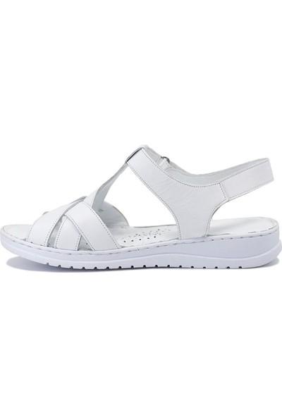 Eşle 9Y-223 Kadın Sandalet Beyaz