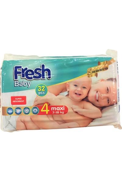 Fresh Baby Bebek Bezi 4 Beden 7-18 Kg 160 Adet
