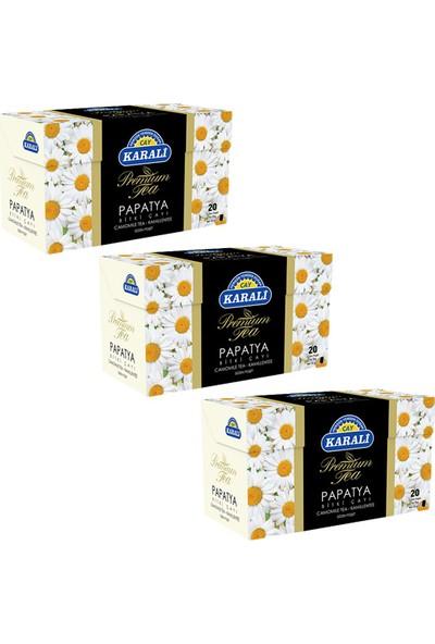 Karali Çay Karali Premium Bardak Poşet Papatya Çayı 20'li x 3 Adet