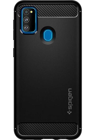 Spigen Samsung Galaxy M21 / M30s Kılıf Rugged Armor Matte Black - ACS00091