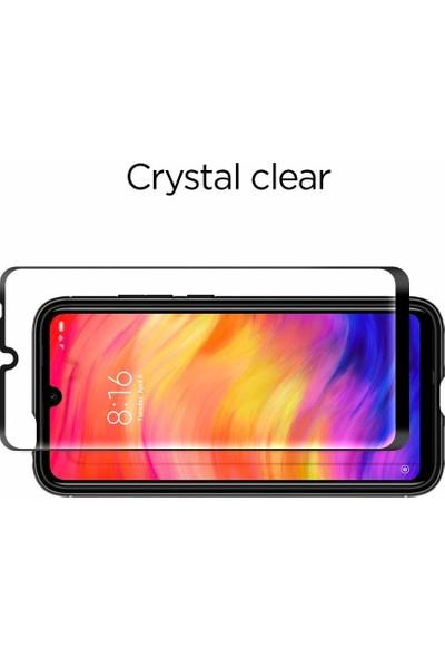 Spigen Xiaomi Redmi Note 7 Cam Ekran Koruyucu Tam Kaplayan Full Cover Black - AGL00078