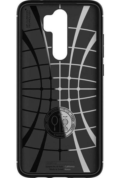 Spigen Xiaomi Redmi Note 8 Pro Kılıf Rugged Armor Matte Black - ACS00268